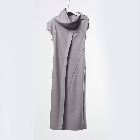 DK18-CS02-D04/Super140's Wool Light Melton Dress/1 COLOR