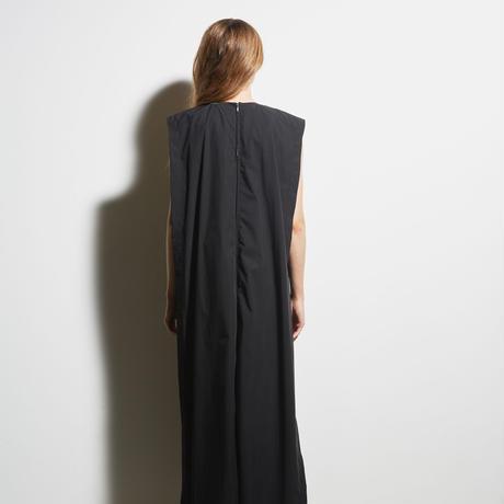 DK19-04-D07/80/1 Stretch Typewriter Cloth Dress / 2COLORS