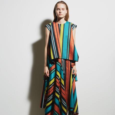 DK19-06-S04/BONOTTO Transparent Stripe Skirt/1COLOR