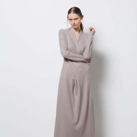DK18-CS01-D03/Dual Layered Jersey Long Sleeve Dress/2 COLORS