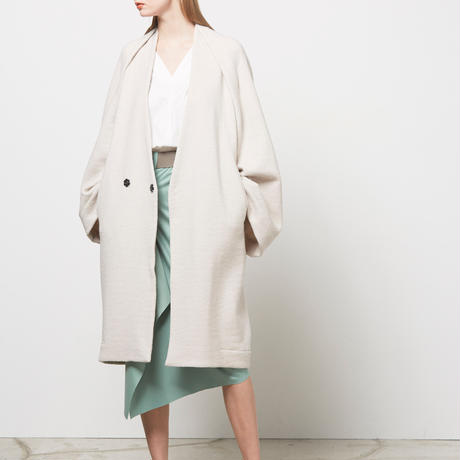 DK16-CS06A-C03/W/Ny/C Milled French Terry Big Sleeve Coat