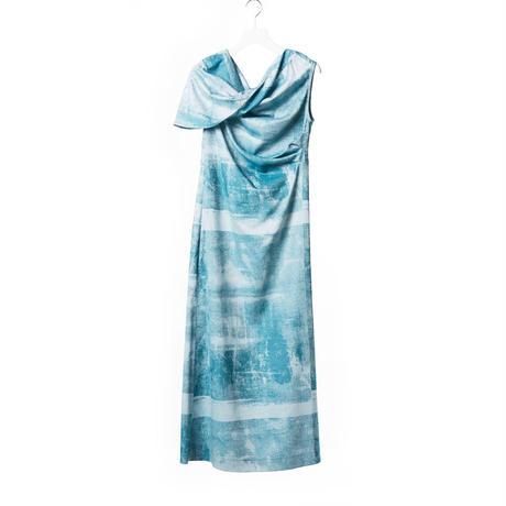 DK15-06-D06/Photograph Jacquard Cotton Dress
