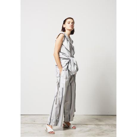 DK17-05-B01/Cotton Stripe Dobby Cloth Top