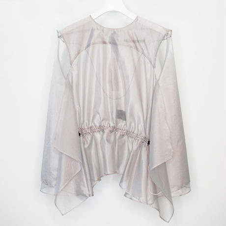 DK19-03-B02/Silk/Pe Chambray Organdy Square Top/Limited Edition