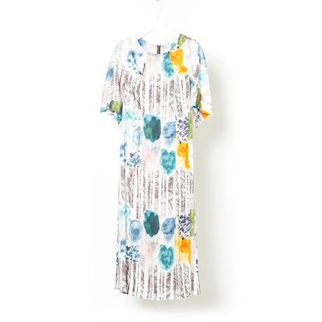 "DK16-01-O07/""Graze"" Print Modal Satin Dress"