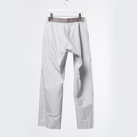 DK18-05-P04/Silk Cotton Grosgrain Wide Trousers/2 COLORS