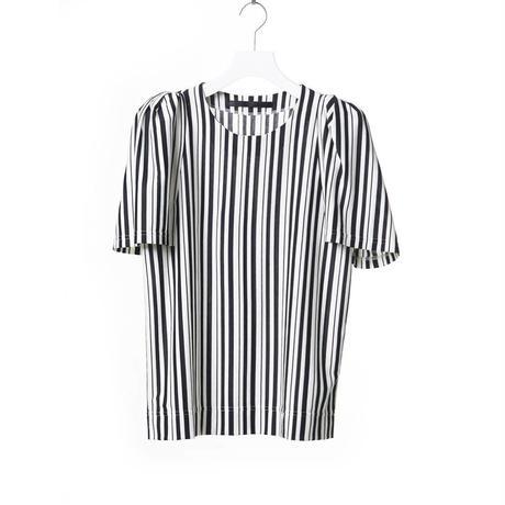 DK15-CS03-T01/Diorama Stripe Fine Jersey Tops