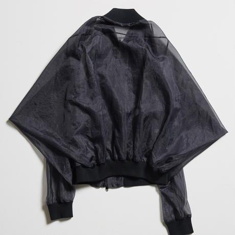DK19-03-J02/Silk/Pe Chambray Organdy Jacket/2 COLORS