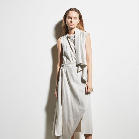 DK19-CS05-O03/Diorama Silky Milano Rib Asymmetry Dress/2COLORS