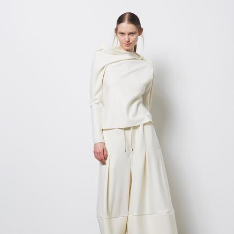 DK18-CS02-T04/Super140's Wool Light Melton Pullover/3 COLOR