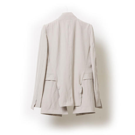 DK17-06-J01/Ta/Ry/Linen Stretch Cloth Jacket