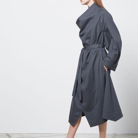 DK18-09-C07/Tasmania Wool Twill Big Coat/2 COLOR