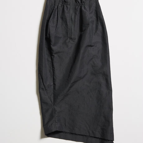 DK19-11-S02/Ra/Ny Washed Twill Slim Skirt/2COLORS