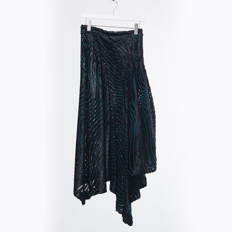DK18-04-S02/Rayon Velvet Opal Finish Skirt/2 COLORS