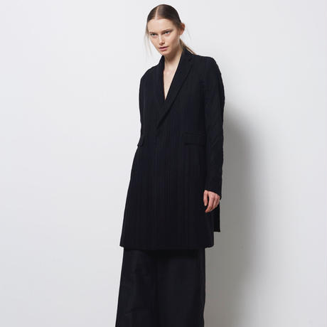 DK18-07-C01/Rayon Wool Shadow Stripes  Chester Coat/1 COLOR