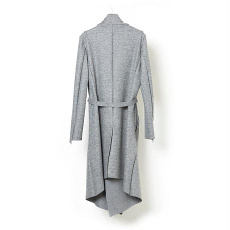 DK16-CS06B-C06/Wool Tweed & Cotton Reversible Coat