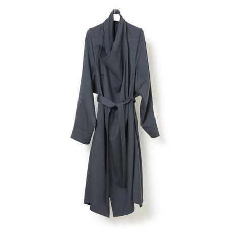 DK16-07-C01/Tasmania Wool Twill Oversize Coat