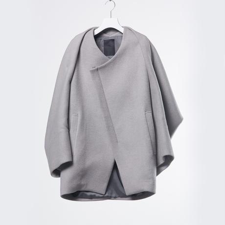 DK18-08-J02/W/Ny/C Double Face Half Coat/2 COLOR