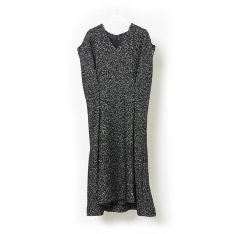 DK16-08-O03/Wool Tweed Dress
