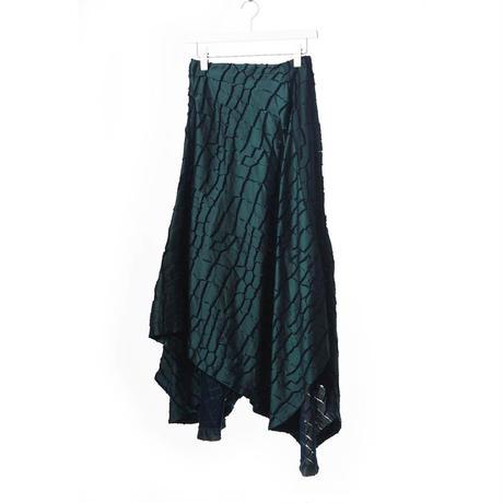 DK15-04-S02/Crocodile Cut Jaquard Skirt