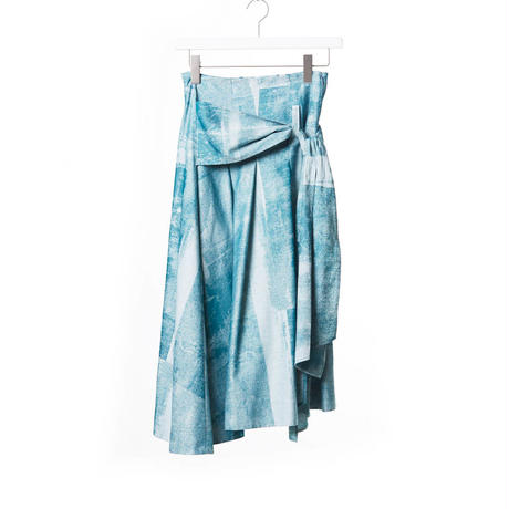 DK15-06-S07/Photograph Jacquard Cotton Skirt