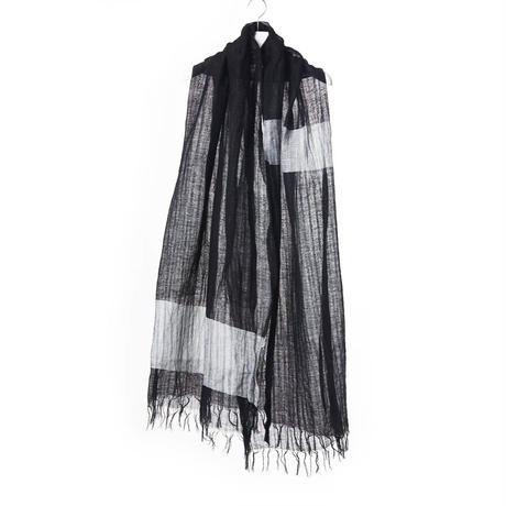 DK15-AC-A01/Linen Cotton Gauze Bicolor Shawl