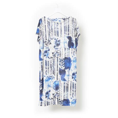 """DK16-CS01-O06/""""Graze"""" Print Smooth Jersey Long Tops"""