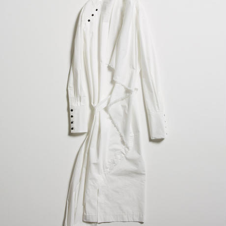 DK19-04-O03/80/1 Stretch Typewriter Cloth Dress / 2COLORS