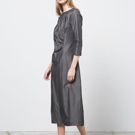DK16-05-D01/Nylon Wool Linen Twill Dress