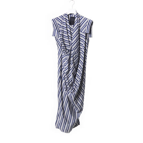 DK15-CS03-O02/Diorama Stripe Fine Jersey Dress