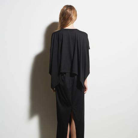 DK19-CS02-O06/40/2 Cotton DYNA Jersey Long Dress/2COLORS