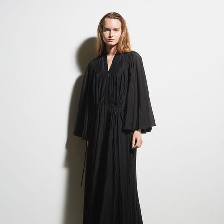 DK19-02-H02/Silk Cotton Washable Lawn Long Dress / 1COLOR