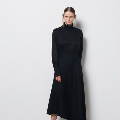 DK18-10-S01/Wool Cashmere Beaver Skirt/1 COLOR