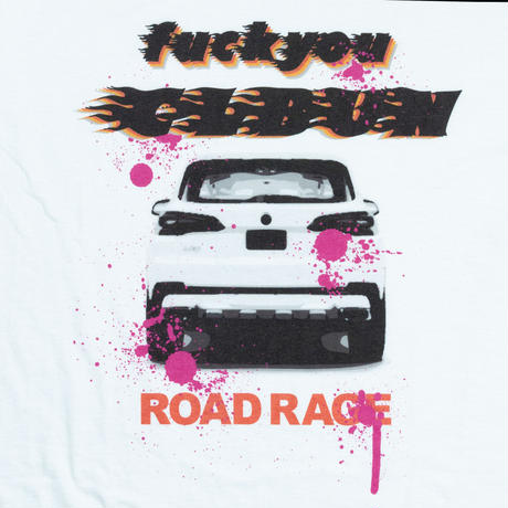 ROAD RAGE Tee Shirt/ WHT