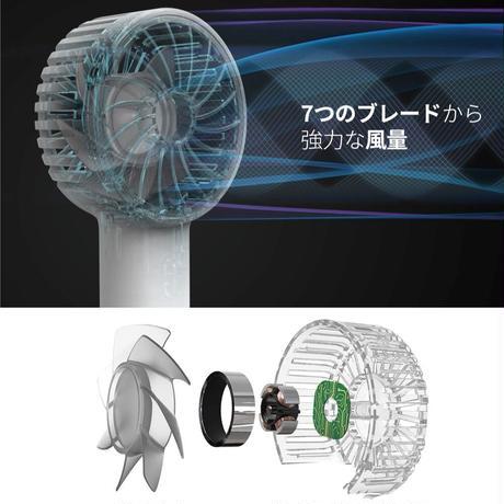 手の平より小さく7つの羽でパワフルなポータブル扇風機「FAN mini F1」