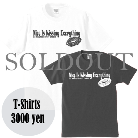 "DUSTY HUSKY ""NICE IS KISSING EVERYTHING"" ORIGINAL TEE"