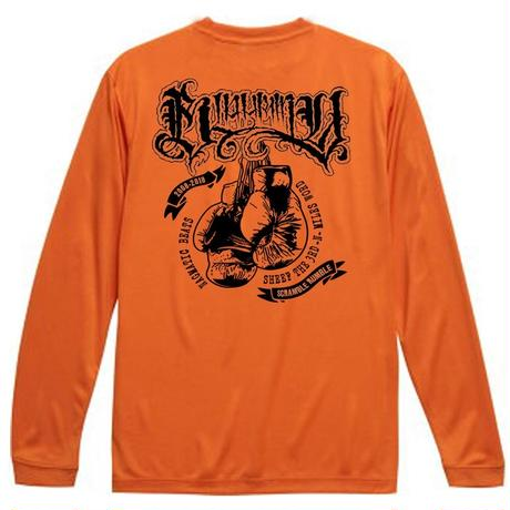 "BLAHRMY ""10 ROUND"" Long Sleeve TEE -Orange-"