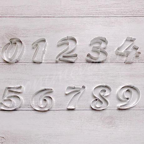 数字クッキー型  【中抜きなし】