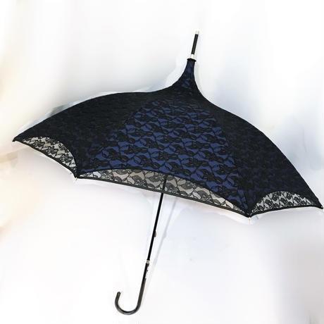 KKS.357150 晴雨兼用レース重ねパゴダ傘<BLU>