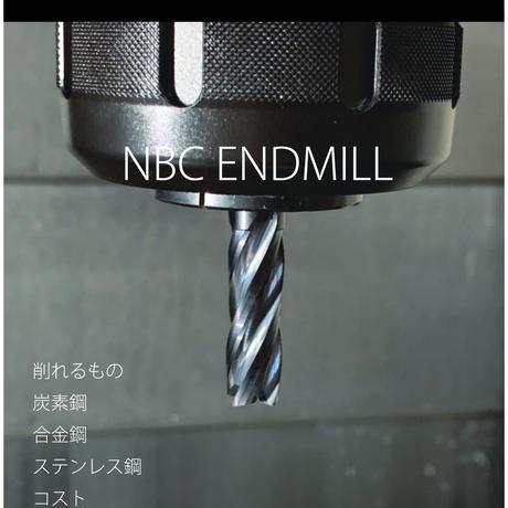 NBCエンドミル 汎用超硬エンドミル 4枚刃 φ6