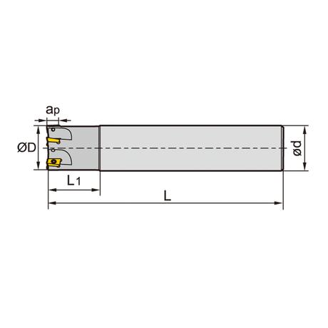 株洲工具 チップ式カッター φ16