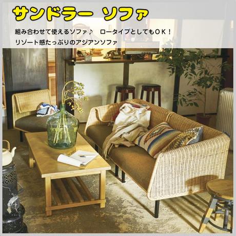 ラタン ソファ 椅子【東谷 Azumaya】3点セット ロータイプ可 モダン シンプル ディスプレイ インテリア 家具 カフェ 組み合わせ AZ3-68( NRS-501 )