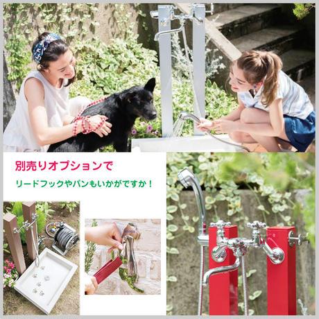 ペット 温水 シャワープレイス コロル 水栓柱 シャワーヘッド付 セット 水浴び 全5色 庭 シャンプー 犬 足 子供 MNK-84