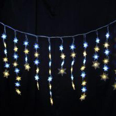 イルミネーション ディスプレイ 飾り 照明 ライティング クリスマス  雪 結晶 LED スノーフレーク つらら 白・電球色【L2DM248】CR-81