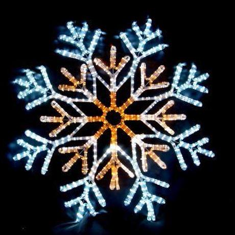 イルミネーション ディスプレイ 飾り 照明 ライティング クリスマス  雪 LEDスノーフレーク 白・黄色【 L2DM241 】 CR-75