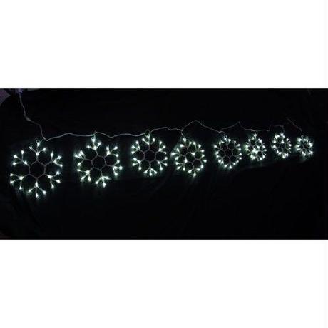 イルミネーション ディスプレイ 飾り 照明 ライティング クリスマス  雪 結晶 LED スノーフレーク8連白色【LDCM058】CR-81