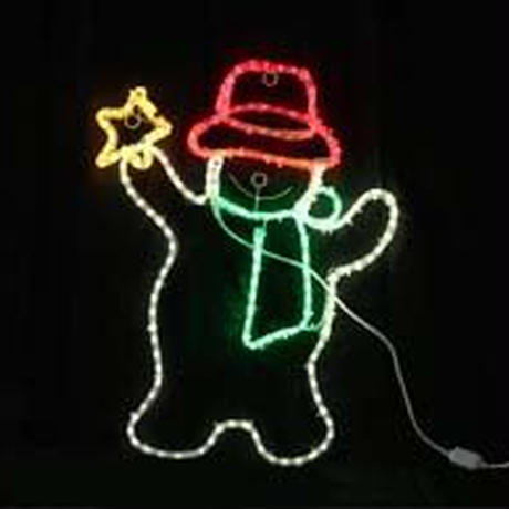 LED イルミネーション ディスプレイ 飾り 照明 ライティング クリスマス スノーマン&スター【 L2DM267 】CR-70