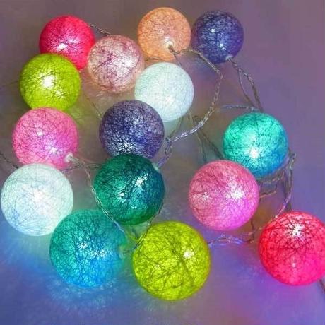 室内用 イルミネーション LED カラフル ボールライト 20球 クリスマス 飾り付け 誕生会 パーティ プレゼント イベント【COF20】CR-99