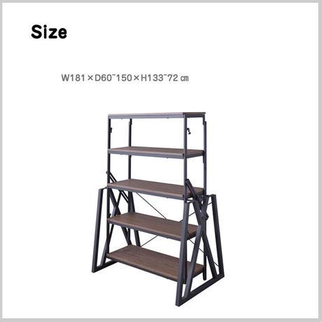 シェルフ 棚 変形 ムービングシェルフ テーブル ラック 5段 立体的 3タイプ ショップ ディスプレイ 東谷 Azumaya AZ  ( DIS-500BK )