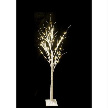 LED 木 イルミネーション ディスプレイ 飾り 照明 ライティング クリスマス 白木ライト 120cm【TRE120D】CR-57